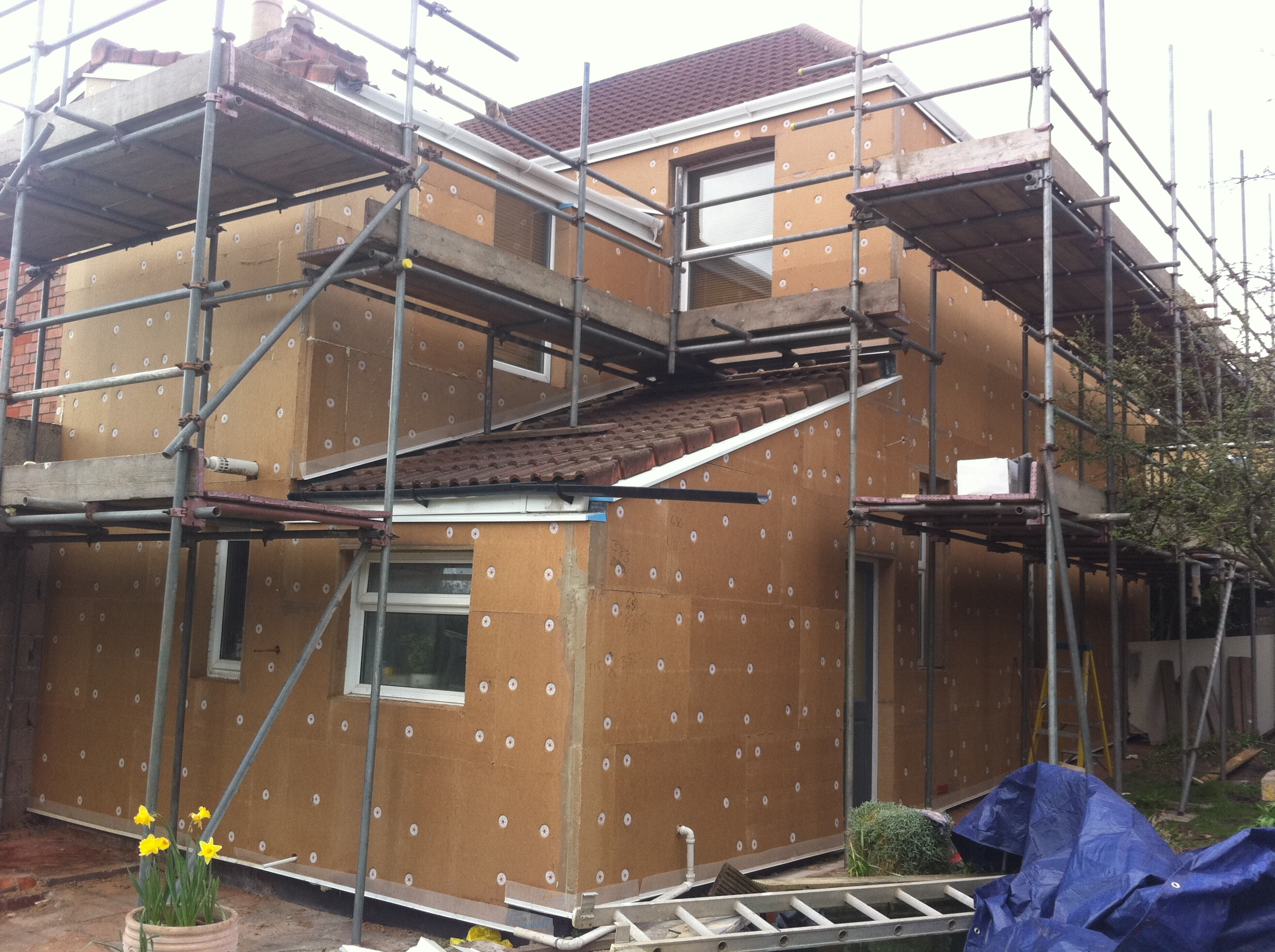 Eco-friendly external wall insulation