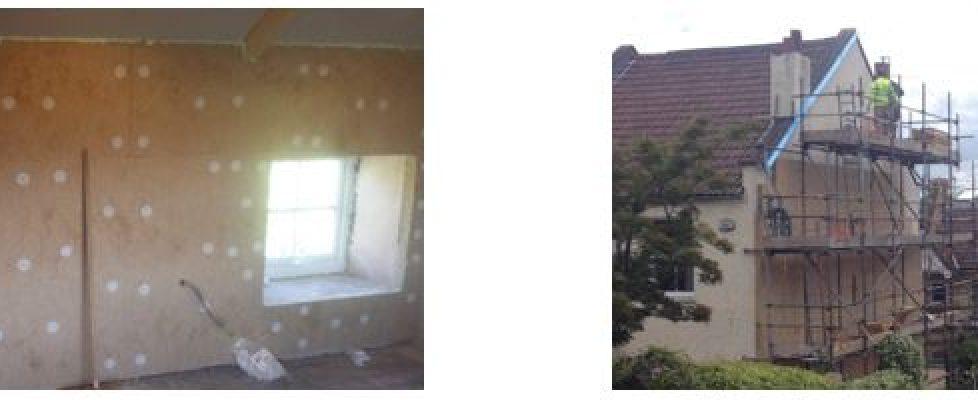 Internal wall insulation or external wall insulation?